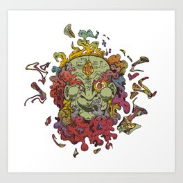 Cyber Genie Art Print