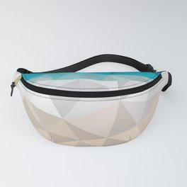 Low poly beach Fanny Pack