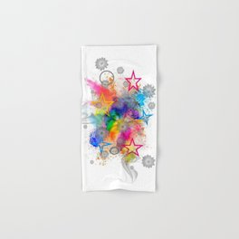 Color blobs by Nico Bielow Hand & Bath Towel