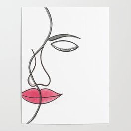 face lineart Poster
