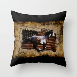 The Pony Express Throw Pillow