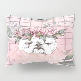 Pitbull Roses Style Pillow Sham