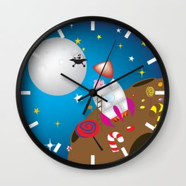 rocket pig part 2 Wall Clock