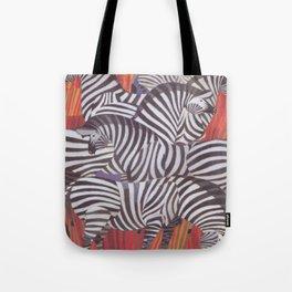 Africa Zebras Vintage Travel Poster Tote Bag