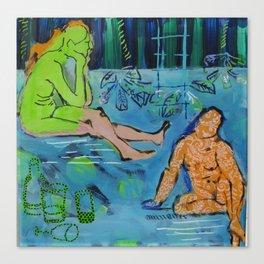 behind glas painting Canvas Print
