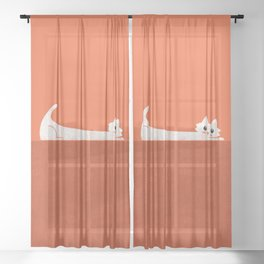 Mark's Superpower: cat Superstretch Sheer Curtain