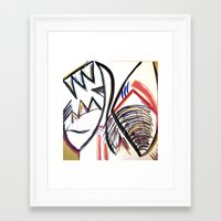 rug Framed Art Prints featuring rug by Amber Kane
