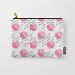 Modern Pink Circle Line Abstract Carry-All Pouch