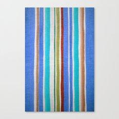 AZTEC BLANKET - BLUE Canvas Print