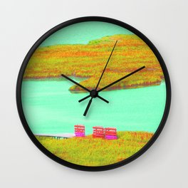 Outerbanks, NC sound and kayaks Wall Clock