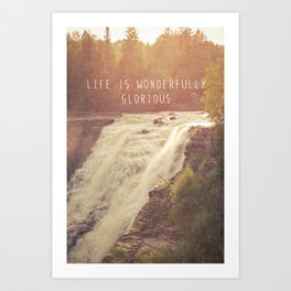 wonderful waterfalls Art Print