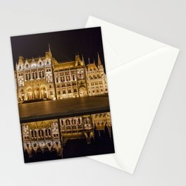 church bright light at night Stationery Cards