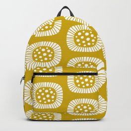 Mid Century Modern Atomic Sunburst Mustard Yellow Backpack