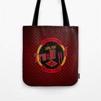 true blood Tote Bags featuring TRUE BLOOD by BeautyArtGalery