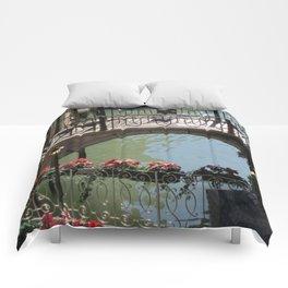 Bridges on Rio de le Procuratie in Venice Comforters