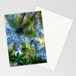 Giant ferns in redwood forest, Rotorua, New Zealand Stationery Cards
