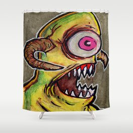 One Eyed Monster Shower Curtain