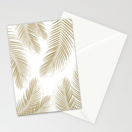 Palm Leaves - Gold Cali Vibes #3 #tropical #decor #art #society6 Stationery Cards
