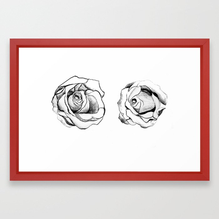 Two Roses for my Friends Framed Art Print