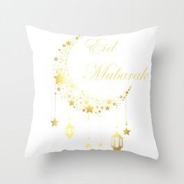 Ramadan Kareem design for kids, Eid Mubarak Banner product Throw Pillow