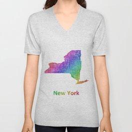 New York Unisex V-Neck