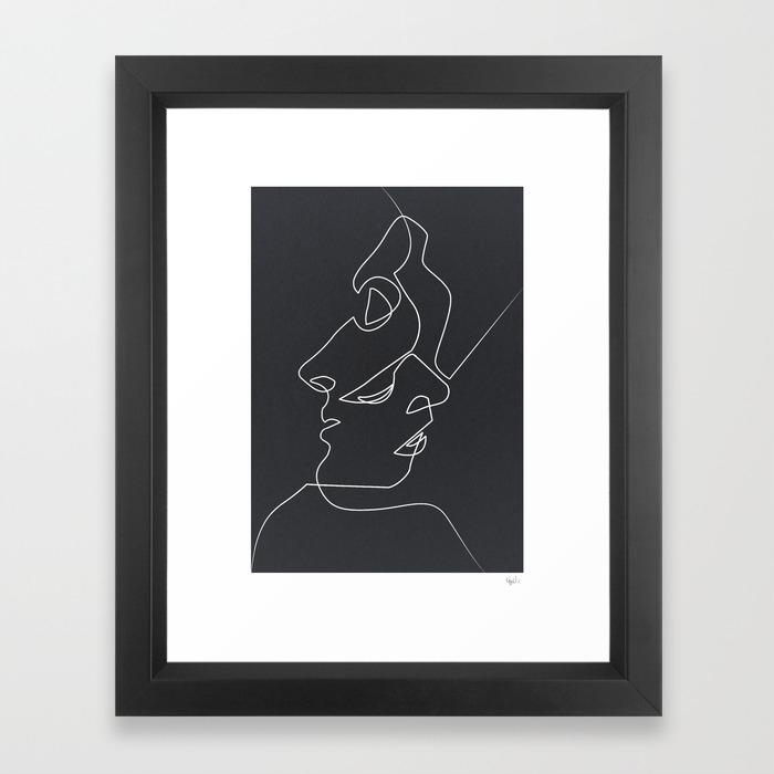Black white framed art prints society6 for Black wall art