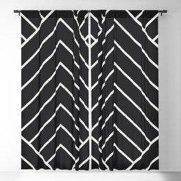 Diamond Series Pyramid White on Charcoal Blackout Curtain