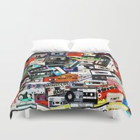 old school Duvet Covers featuring Old School by Spotted Heart