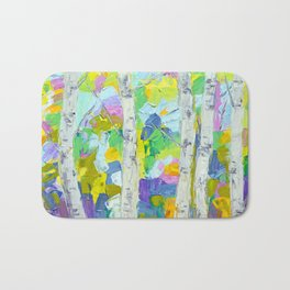 Dancing Birch Trees Bath Mat