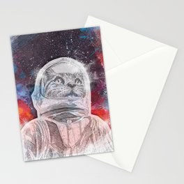 Space_Cat Stationery Cards