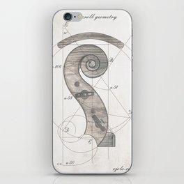 musical geometr.eye iPhone Skin