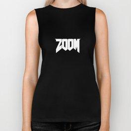 ZOOM Logo White Biker Tank