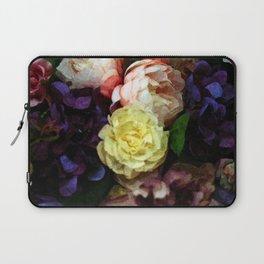 Shabby Chic Flowers Pattern Laptop Sleeve