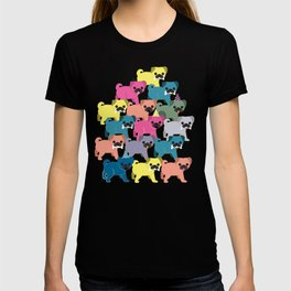 Colored Pugs Pattern - no1 T-shirt