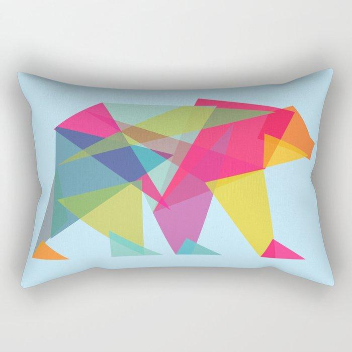 Fractal Bear - neon colorways Rectangular Pillow