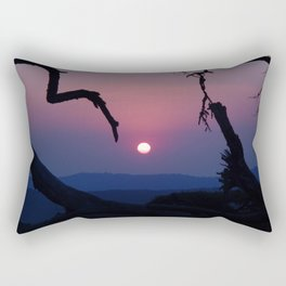 African Sunset - Blue Rectangular Pillow