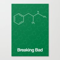 breaking bad Canvas Prints featuring Breaking Bad by Karolis Butenas