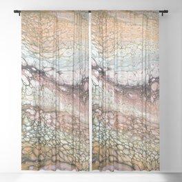 pour & swipe Sheer Curtain