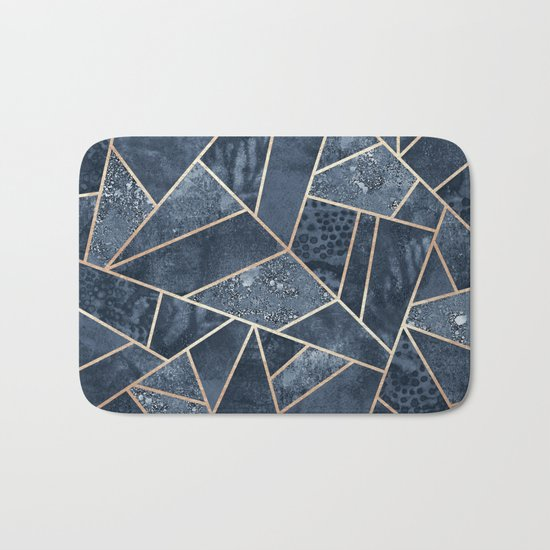 Soft Dark Blue Stone Bath Mat