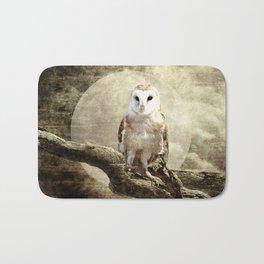 Rustic Owl Bird Moon Branch Modern Country Farmhouse Art A413 Bath Mat