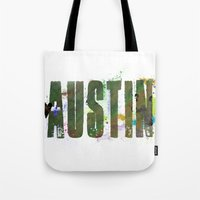 austin Tote Bags featuring Austin by Tonya Doughty