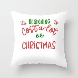 Cost Like Christmas Christmas Shopper Gift Throw Pillow