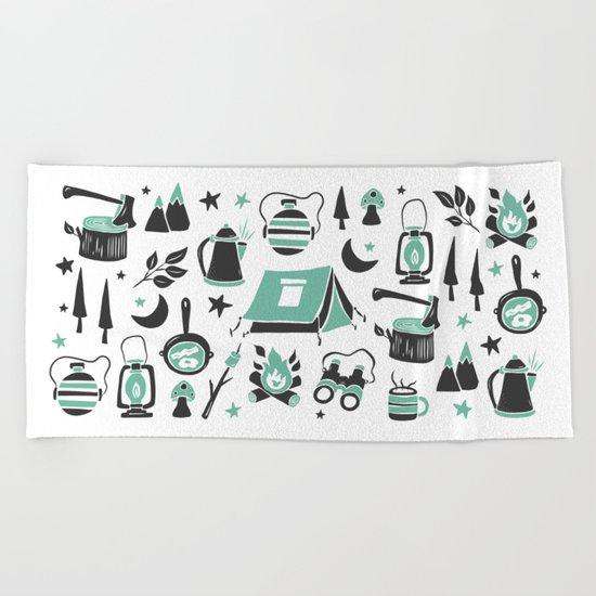 Camp Life Beach Towel