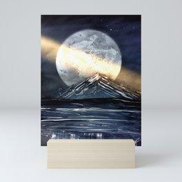 Behind the Mountains Back Mini Art Print
