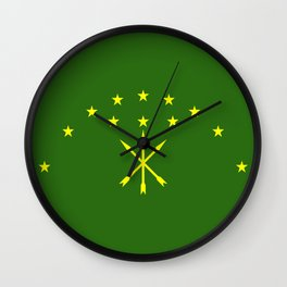 adygea flag Wall Clock