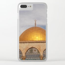 The Dome of the Rock, Old City of Jerusalem Clear iPhone Case