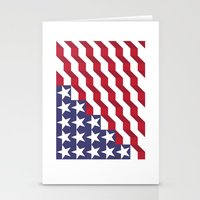 american flag Stationery Cards featuring American Flag by Mychal Diaz