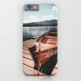 lake bled autumn scene iPhone Case