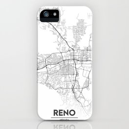Minimal City Maps - Map Of Reno, Nevada, United States iPhone Case