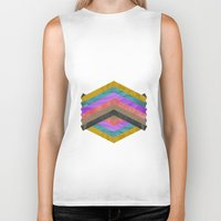 hexagon Biker Tanks featuring Hexagon by Kaamil Ajmeri
